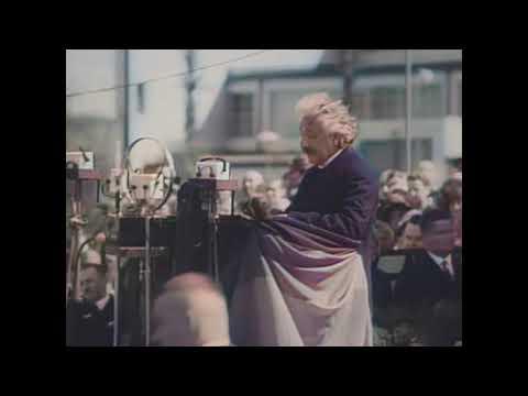 Albert Einstein Rede Funkausstellung 1930 [HD, Koloriert]