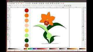 Desenhando com Inkscape ( Cattleya )