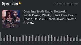 Inside Boxing Weekly:Santa Cruz,Brant Recap, DeGale-Eubank, Joyce-Stiverne Preview