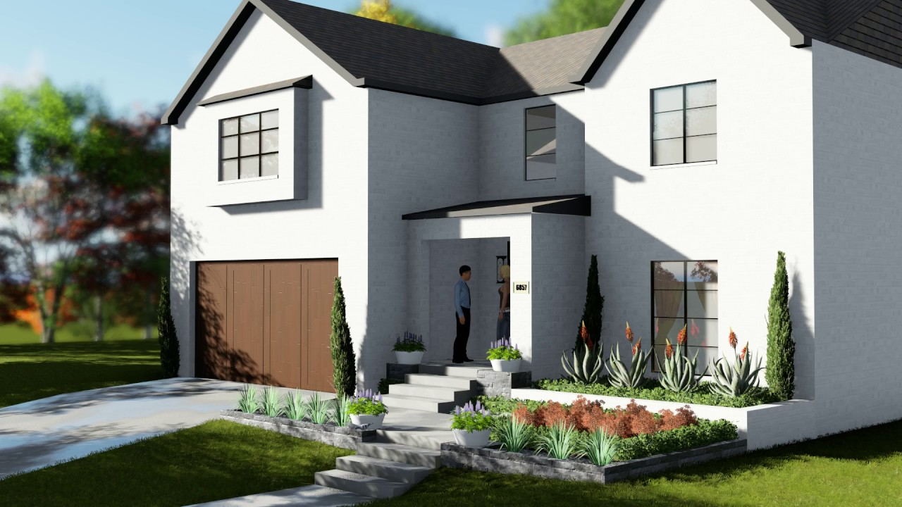 minimalist & modern front yard