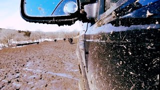 Iowa Ice Fishing ~ My Daughter's Ford Gets A Tad Muddy #290