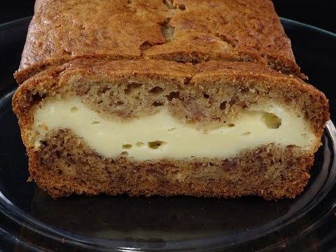 Banana Bread with Cream Cheese Layer- with yoyomax12