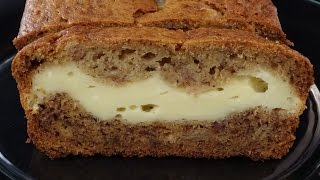 Banana Bread with Cream Cheese Layer- with yoyomax12