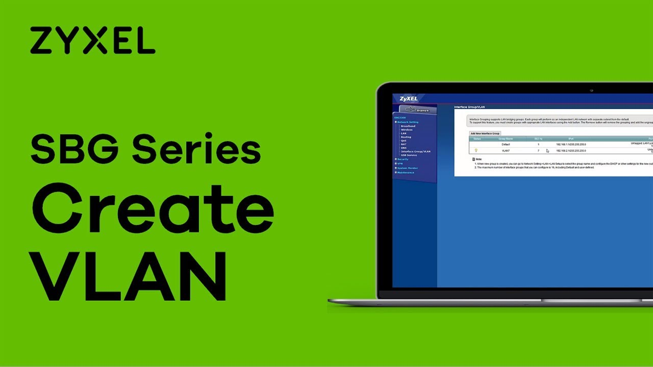 Zyxel SBG Series - How To Create a VLAN Interface