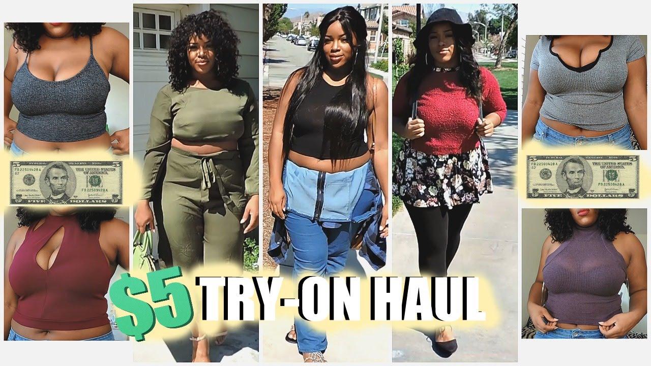 $5 CHARLOTTE RUSSE PLUS SIZE HAUL + SAMMY DRESS HAUL FAIL