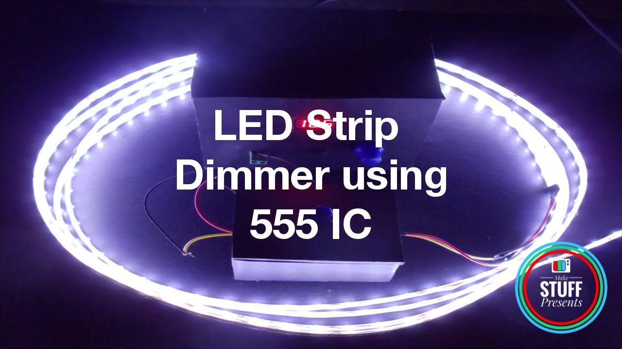 Led Lighting Circuit Diagram Using 40 Ic 555 T Alternate Switching Gadgetronicx Simple Easy Dimmer For Strip Lights Diy