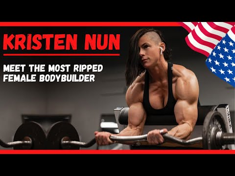 KRISTEN NUN | The Most Ripped Female Bodybuilder | Workout with Rock/Metal Music