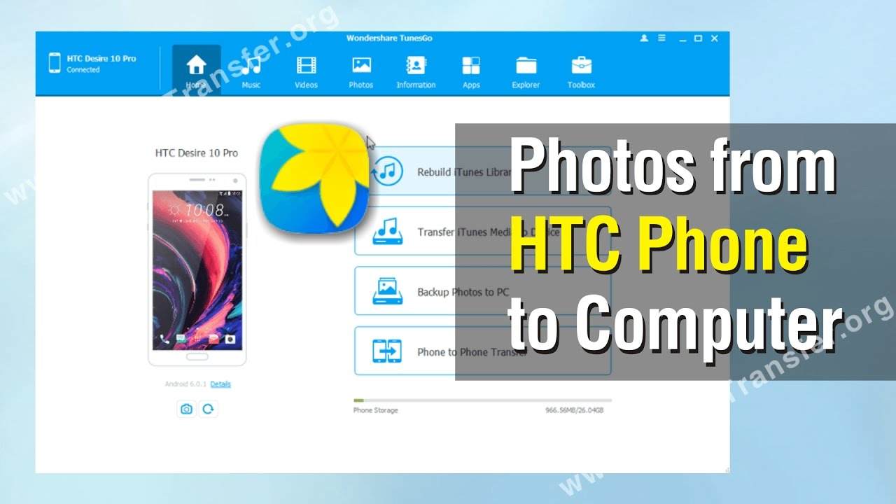 How To Export Photos From Htc Phone To Computer Youtube