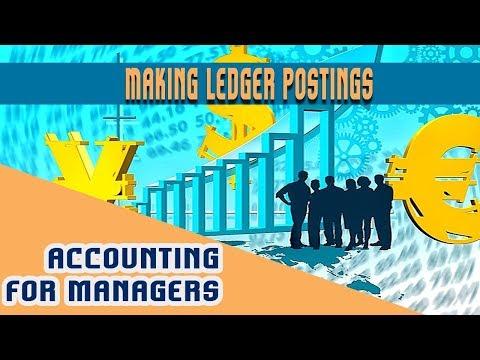 Lec 9.  Ledger | Preparing Ledger Entries | Making Ledger Postings using Journal Entries