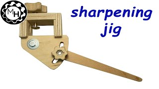 Homemade sharpening jig for woodturning tools (free plans)