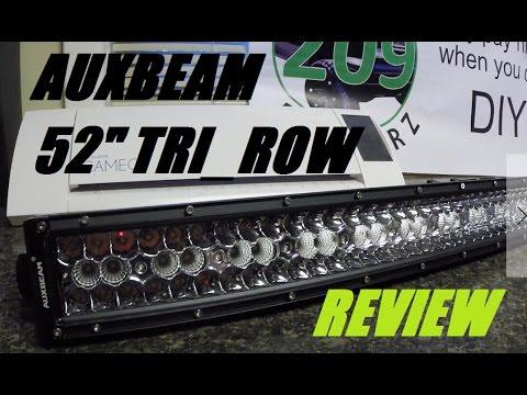 Auxbeam v series vs c3 series led light bar comparison lemurtube auxbeam 52 tri row series light bar review aloadofball Image collections