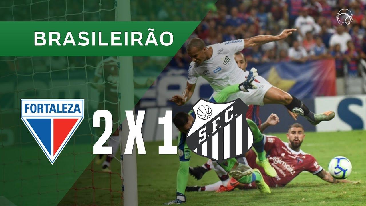 Форталеза  2-1  Сантос видео
