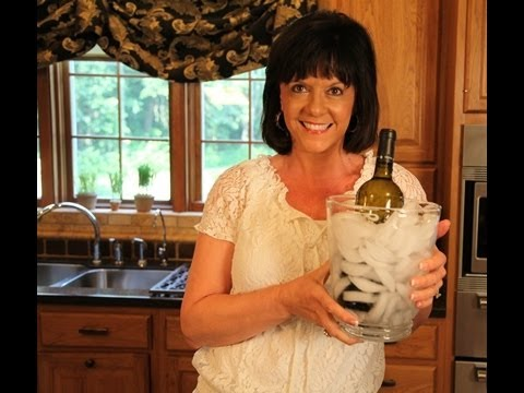 How To Fill an Ice Bucket And Chill White Wine