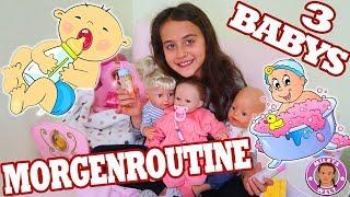 MORGENROUTINE Reborn BABY - PUPPENMAMA mit 3 BABYS