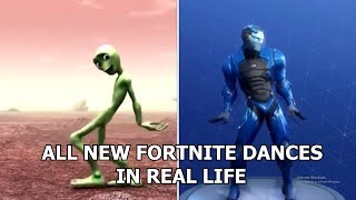ALL NEW FORTNITE DANCES IN REAL LIFE!?! (STAR POWER, ORANGE JUSTICE) *2018*