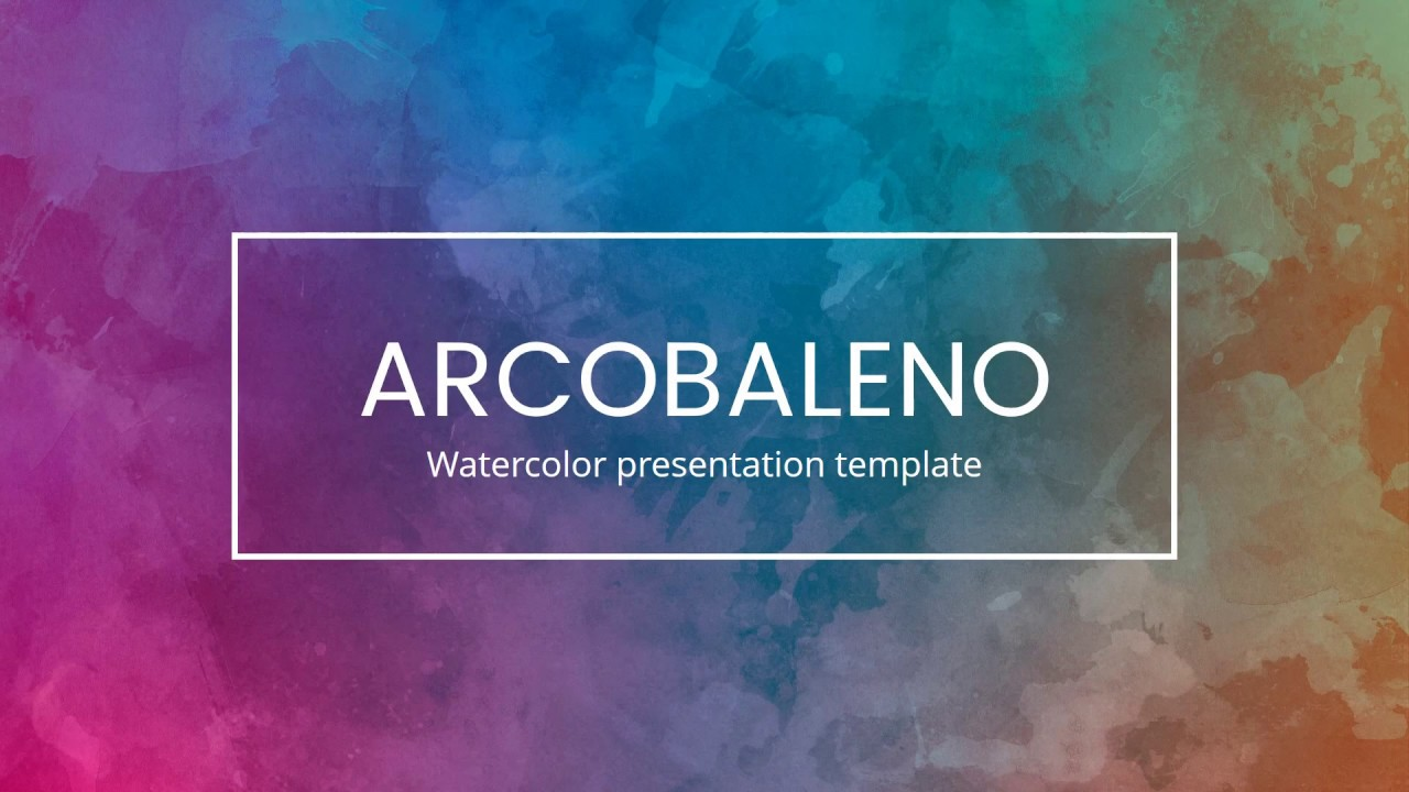 arcobaleno - watercolor powerpoint template