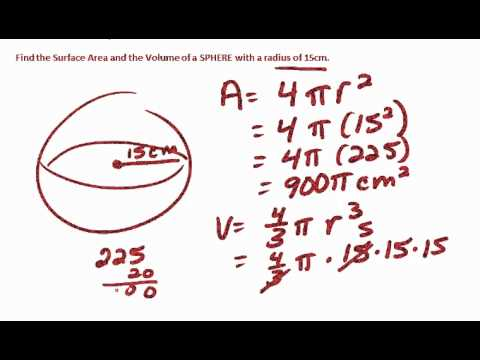 Geometry area and volume of sphere and hemisphere youtube geometry area and volume of sphere and hemisphere ccuart Choice Image