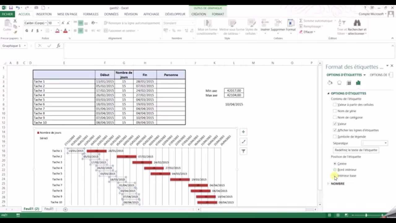 Ajouter les dates de dbut et fin des tches sur un graphique de ajouter les dates de dbut et fin des tches sur un graphique de gantt excel ccuart Images