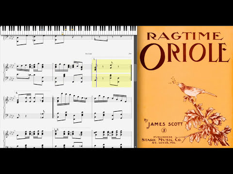 Ragtime Oriole by James Scott (1911, Ragtime piano)