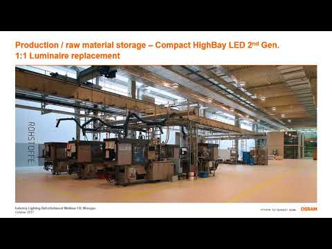 Refurbishment options for industrial lighting systems