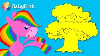 Nature | Coloring and Music | Rainbow Horse | BabyFirst TV