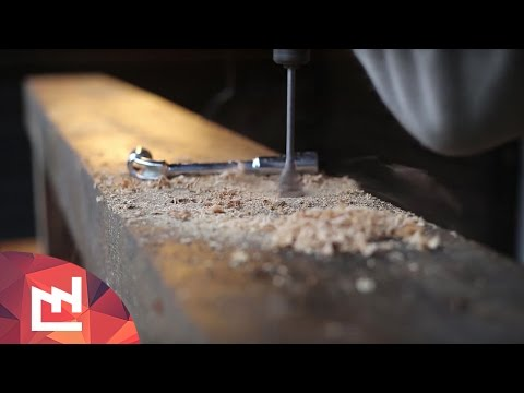 Turn a Railroad Tie Into a Beefy Bench With Just a Drill, Saw, and Chisel