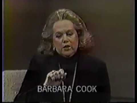 Barbara Cook on The Dick Cavett Show, 1982.