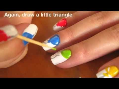 Balloon nails tutorial youtube prinsesfo Choice Image