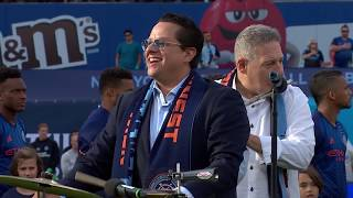 Tito Puente Jr. performs the National Anthem at Citi Field