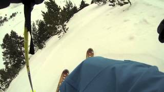 Skiing Arinsal (Andorra). Right Wall in spring Thumbnail