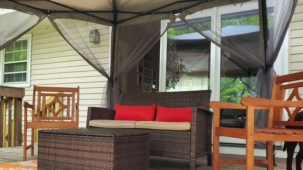 How to Create an Outdoor Living Space with Walmart ... on Walmart Outdoor Living  id=48816