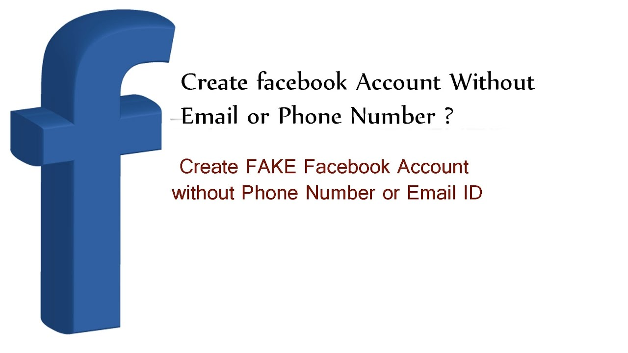 How to make an email account no phone number - How To Create A Facebook Account Without Phone Number Or Email Id New 2017 Tips