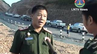 Lao NEWS on LNTV-A shortage of asphalt is likely to delay further  construction of the KasyNan road