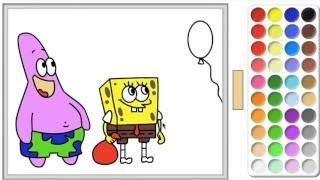sponge bob coloring For Children, СПАНЧ БОБ РАСКРАСКА