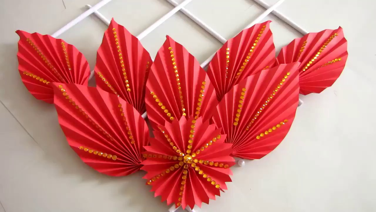 Diy Simple Home Decor Wall Decoration Hanging Flower Paper Craft Ideas 28
