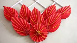 DIY. Simple Home Decor. Wall Decoration. Hanging Flower. Paper Craft Ideas 28