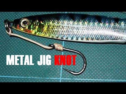 How to make knots on metal jig bait for jigging fishing for Fishing knots for lures