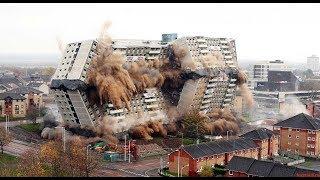 Профессиональный снос,подрыв здании и сооружений,Best Building Demolition Compilation