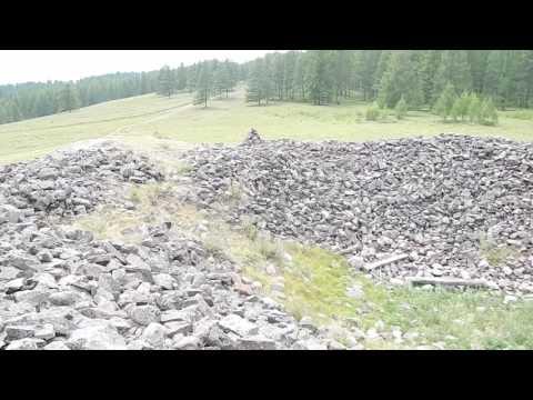 Огромный скифский курган в Сибири / A huge Scythian mound in Siberia