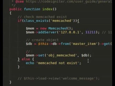 How To Install & Use Memcached In Codeigniter Framework [ubuntu]