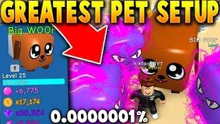 USING THE SECRET DOGCAT AND 3 LEVIATHAN PETS!! *RAREST SETUP!* - Roblox Bubble Gum Simulator