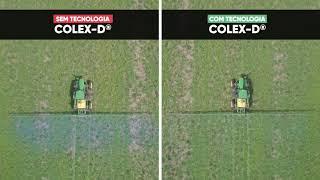 Comparativo na redução de deriva: Sem Enlist®️ Colex-D®️ e com Enlist®️ Colex-D®️