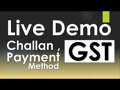 Live Demo GST Payment Challan Generation & Payment Method in Hindi By CA : tipsntricksguru
