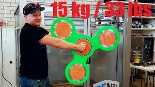 World´s Largest Real 3d-Printed Fidget Spinner! (no cheating or clickbait!)