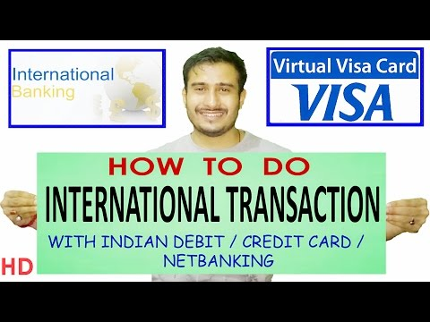 How to create virtual debit card |Online international transaction |Entropay | Credit Card India