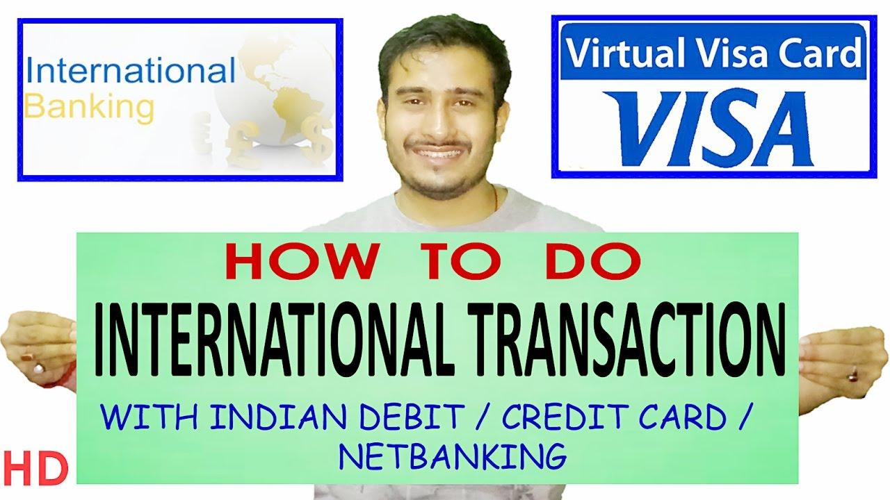 Online international credit card