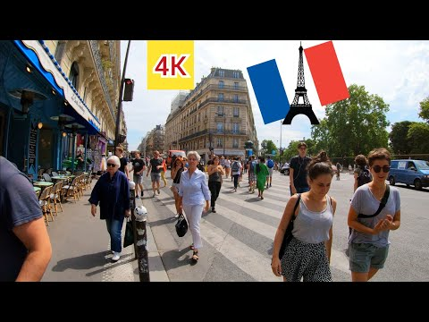 ⁴ᴷ Paris summer walk 🇫🇷 People are chilling in the parks 4K