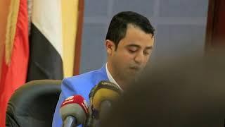 كلمة مدير مركز العاصمة الإعلامي اثناء فعالية إشهار التقرير السنوي صنعاء الحصاد المر 2018م