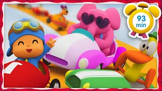 🚘 POCOYO in ENGLISH - CRAZY RACES! [93 minutes] | Full Episodes | VIDEOS and CARTOONS for KIDS