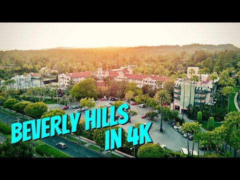 BEVERLY HILLS AT SUNSET WITH MAVIC PRO IN 4K